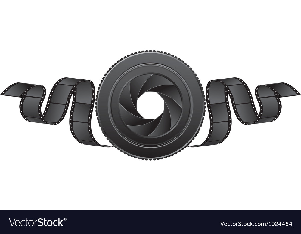 Lens and film vector image