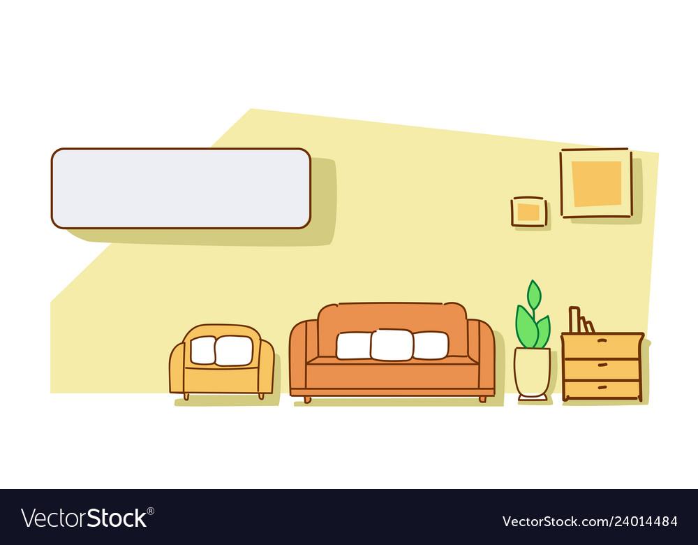 Living room interior modern apartment furniture