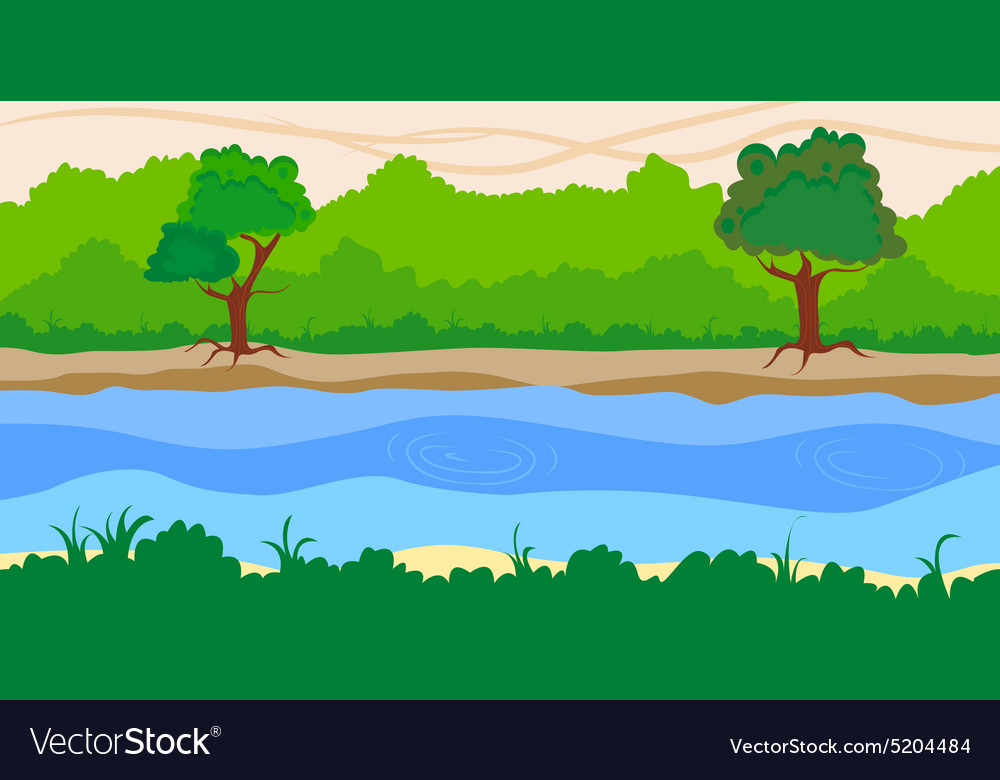 River side landscape background
