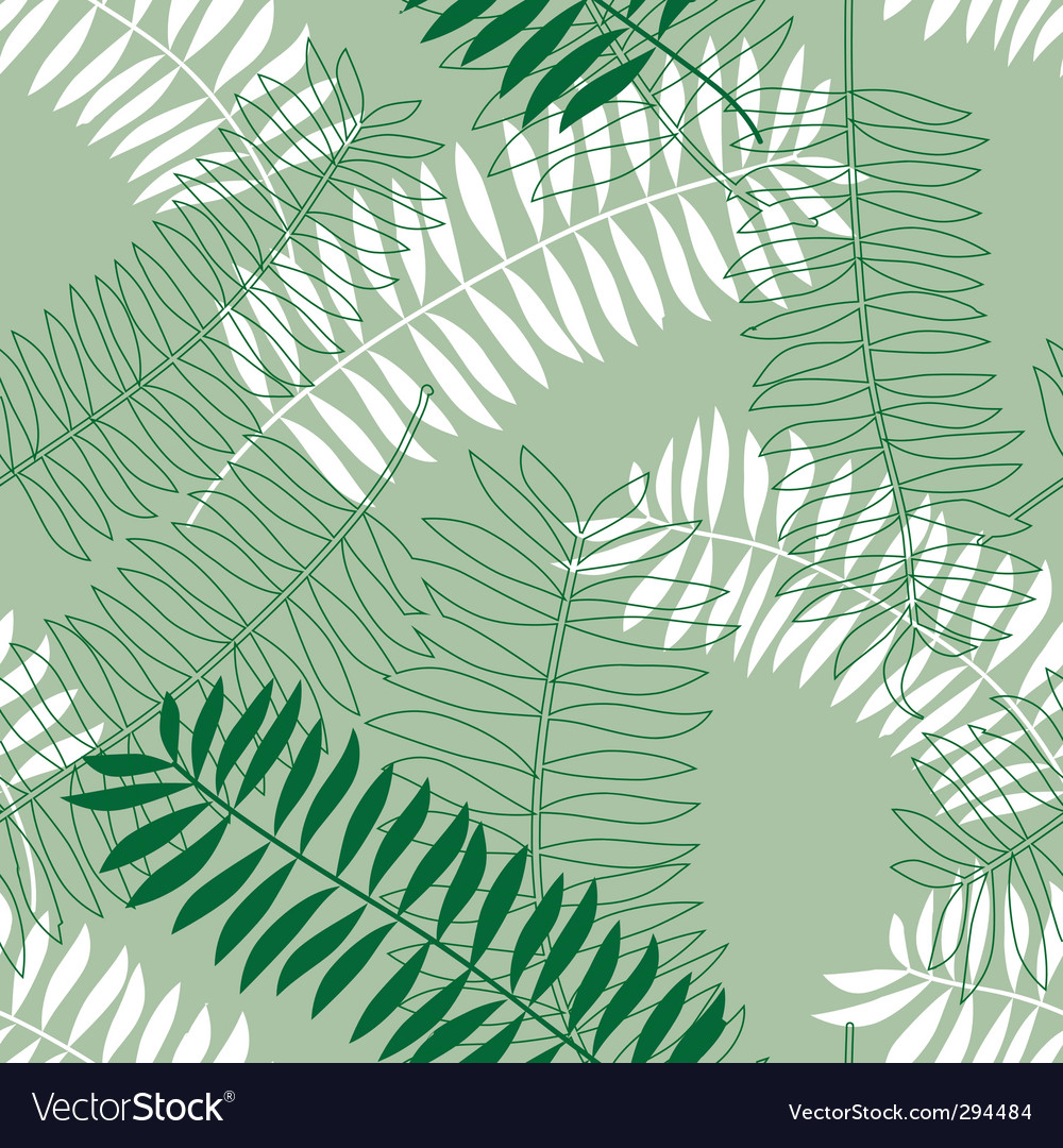 Seamless background with colored leaves vector image