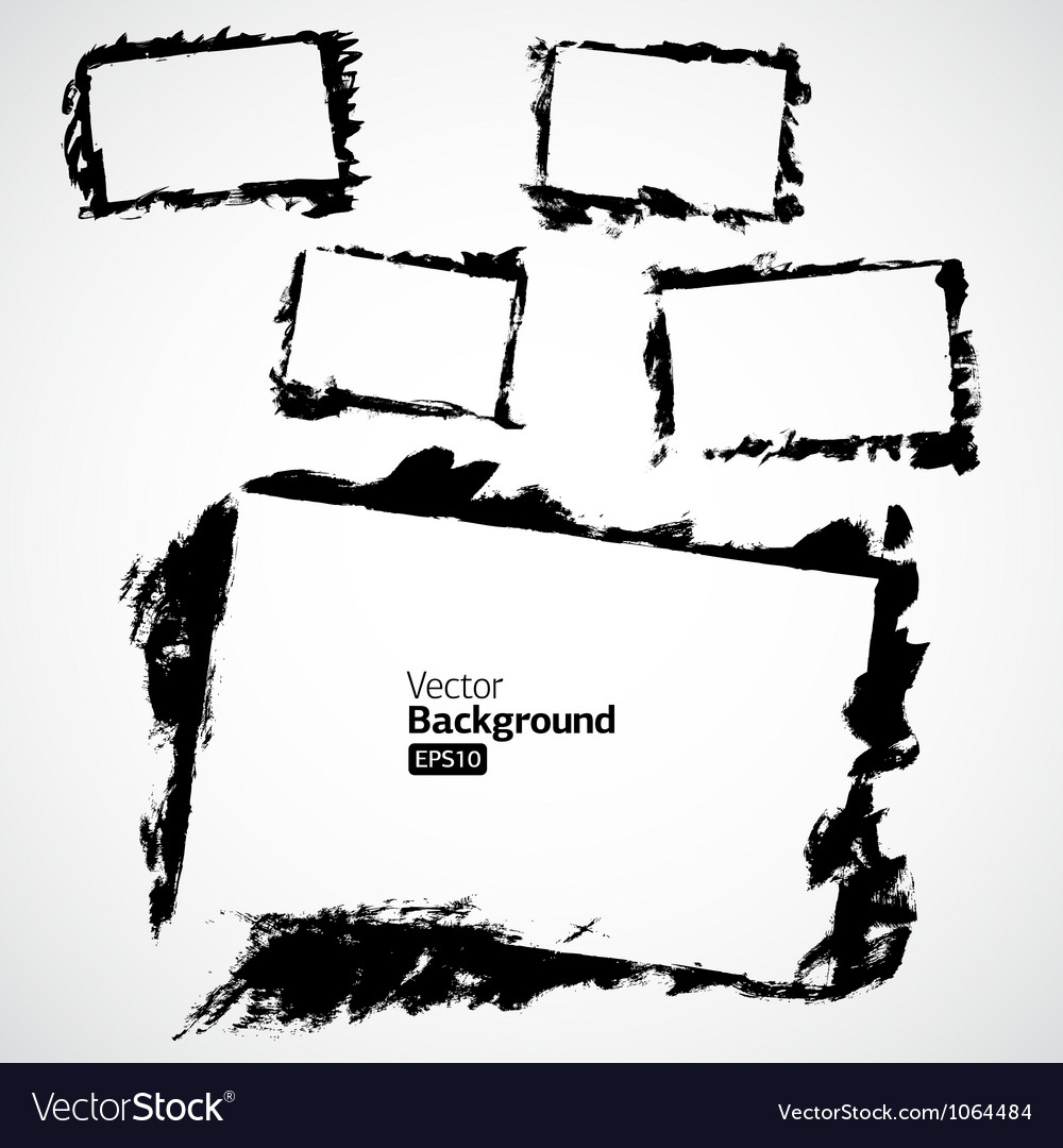 Set of Grunge Frames for multiple applications vector image