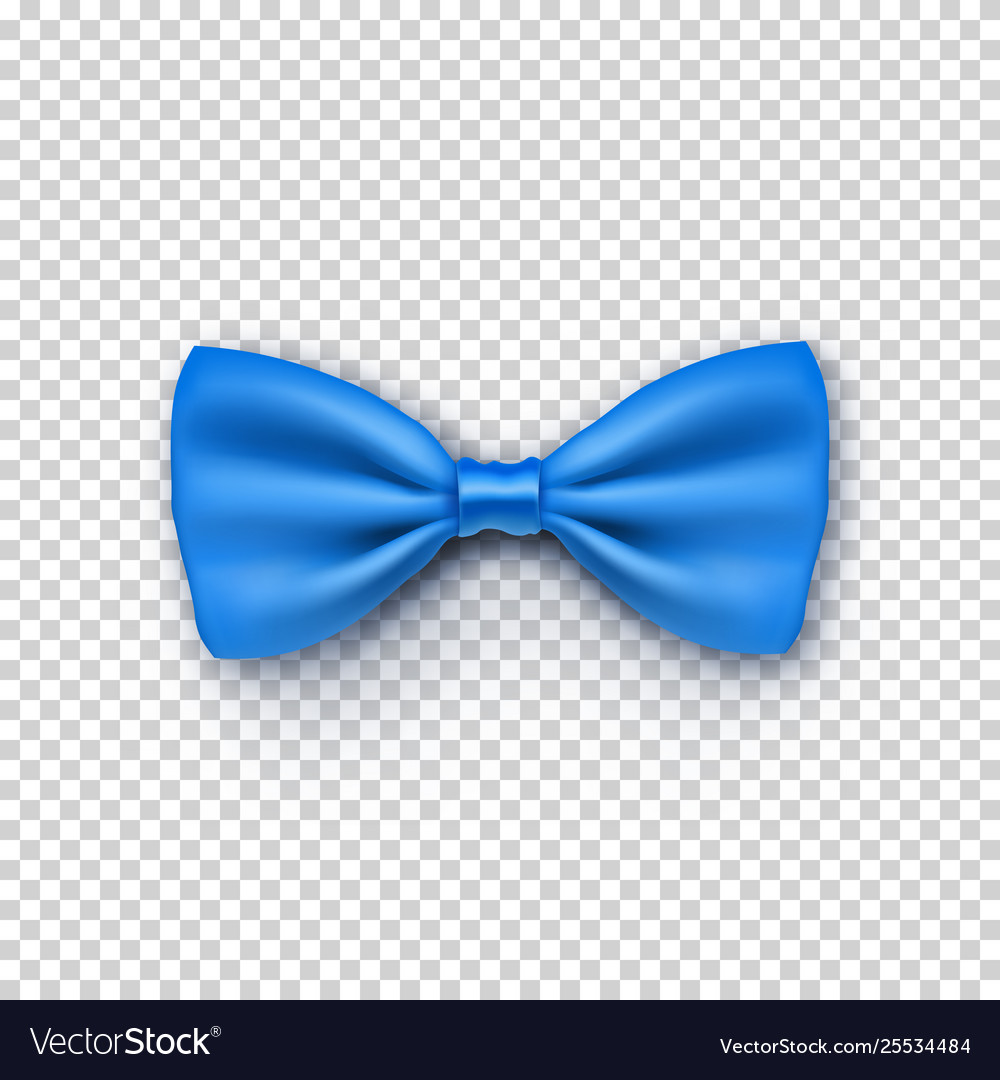Stylish blue bow tie from satin