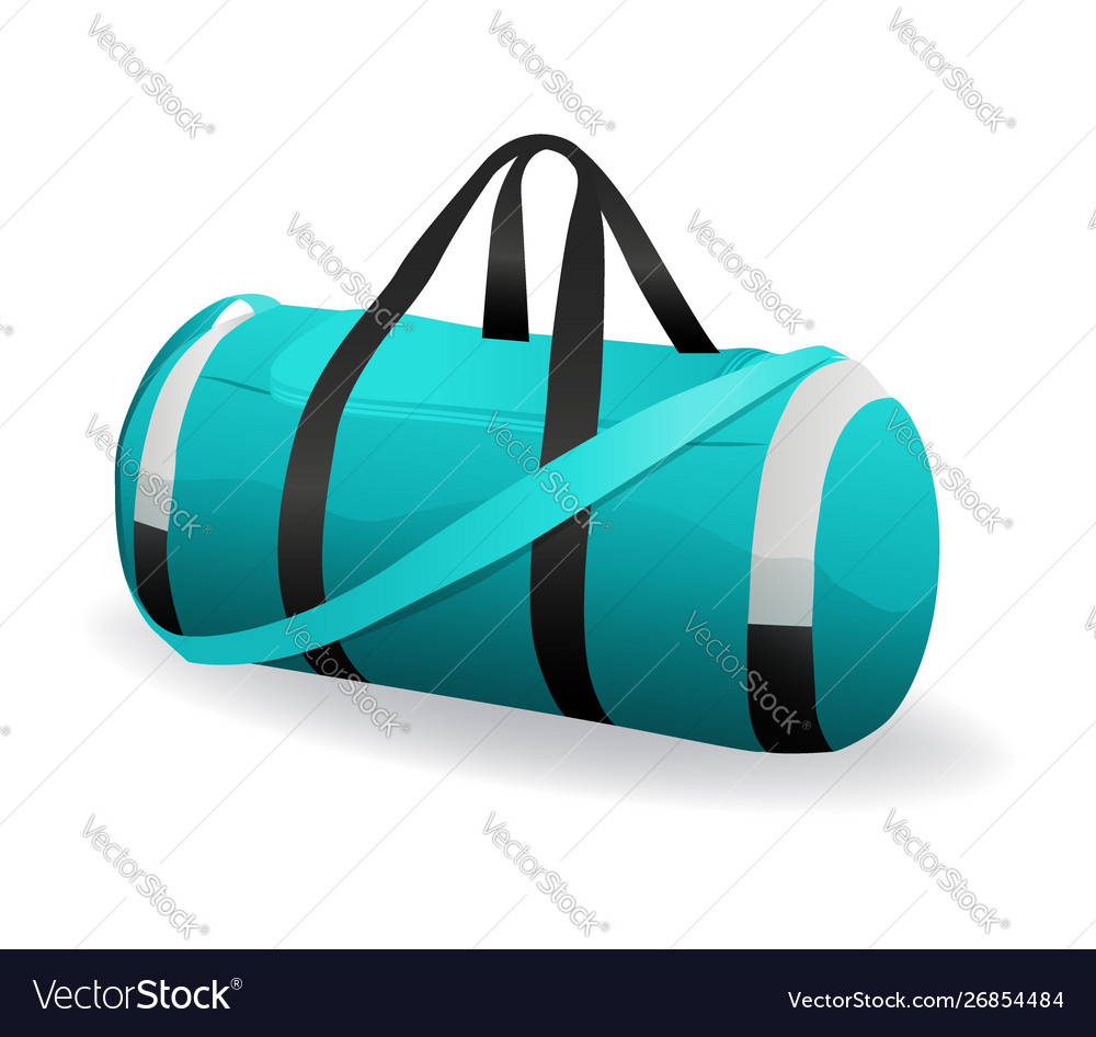 Turquoise sport bag for sportswear and equipment