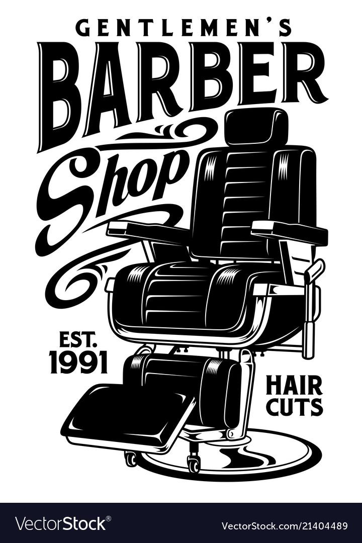 Barbershop Chair Vector Image