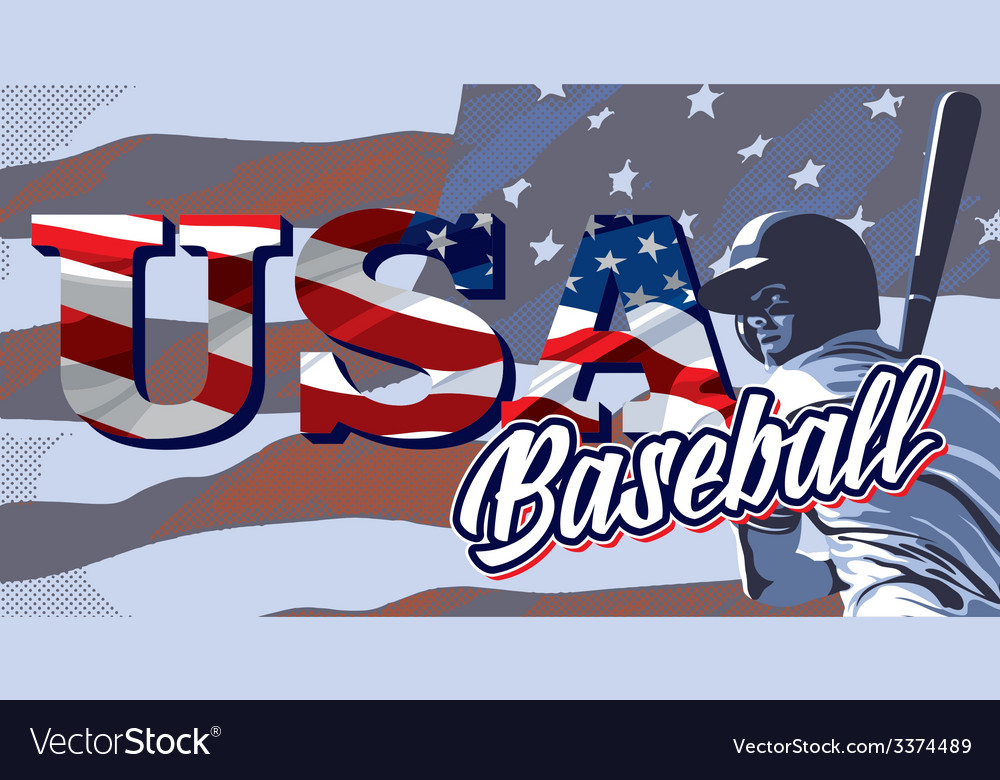 BASEBALL FLAG USA