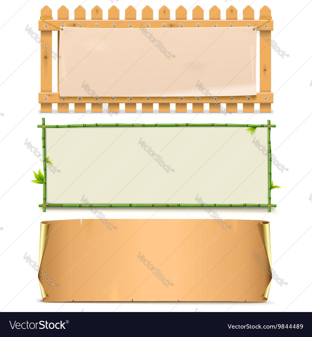 Boards Set 5 vector image
