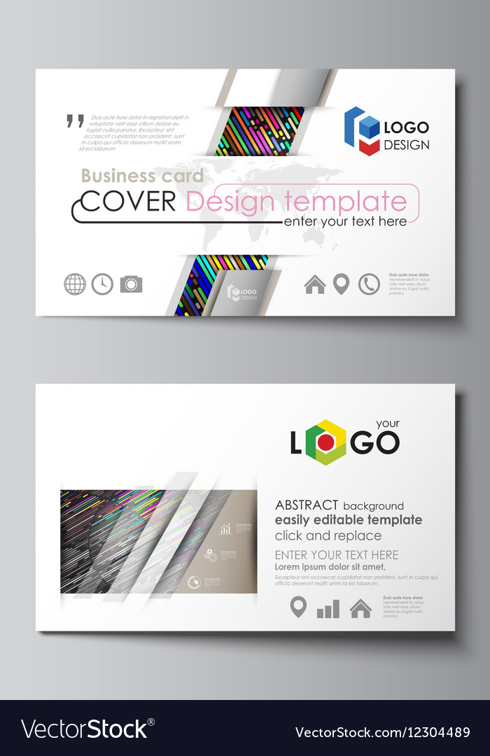 Business card templates Easy editable layout