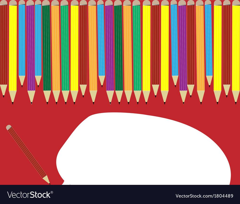 Colour pencils can speak vector image