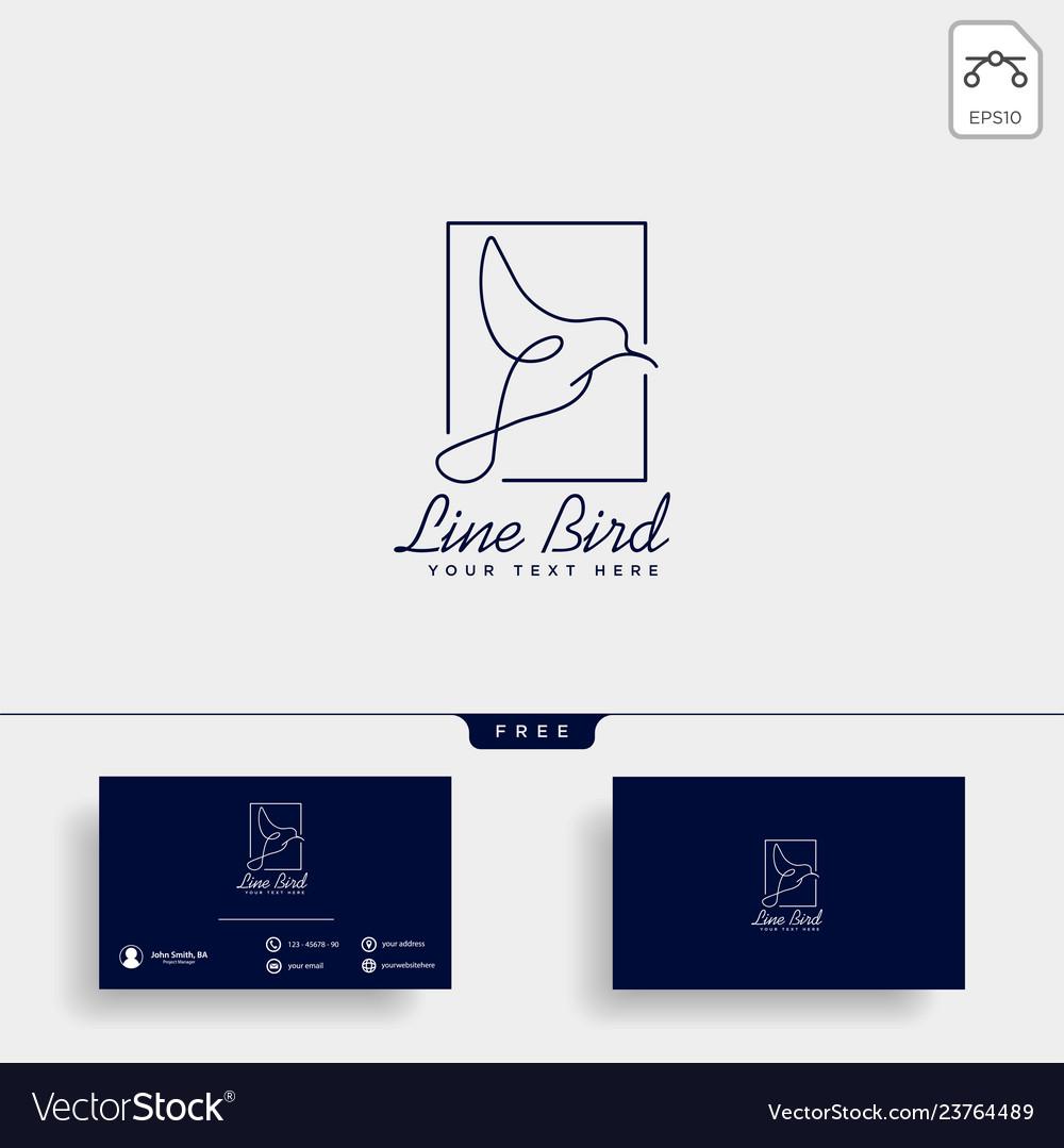 Dove flying bird cosmetic logo template icon