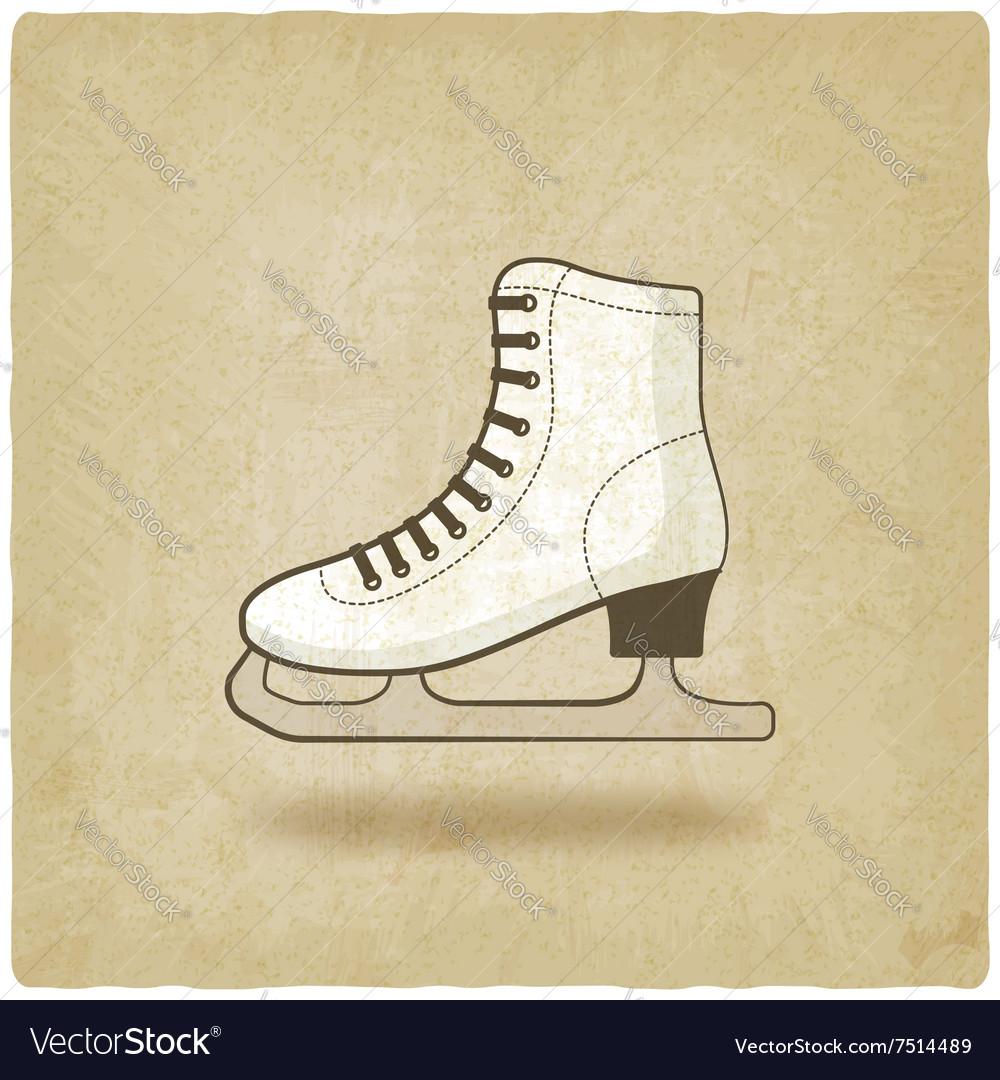 Figure skate old background vector image
