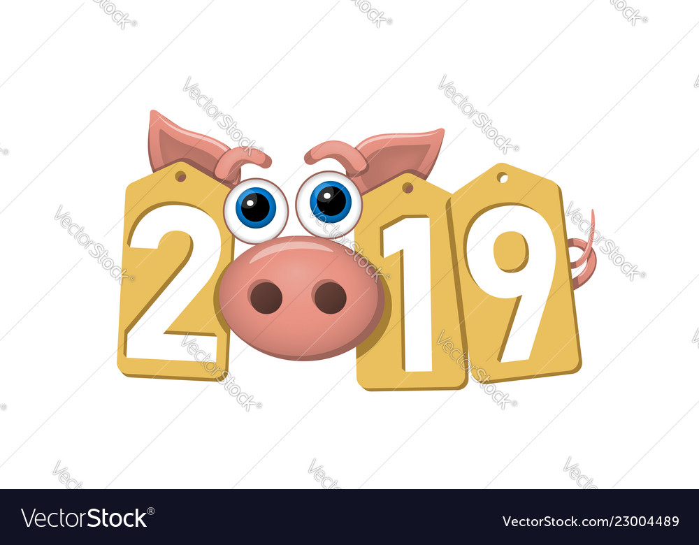 Happy new year background pink pig gold sale