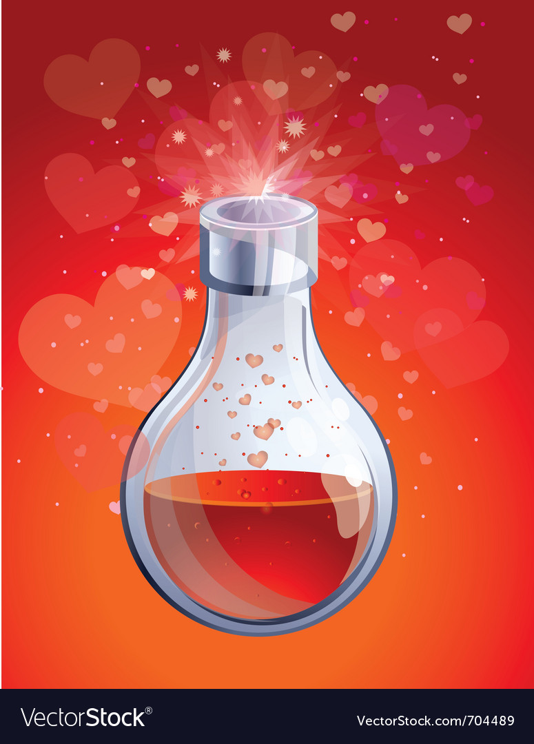 Love elixir vector image