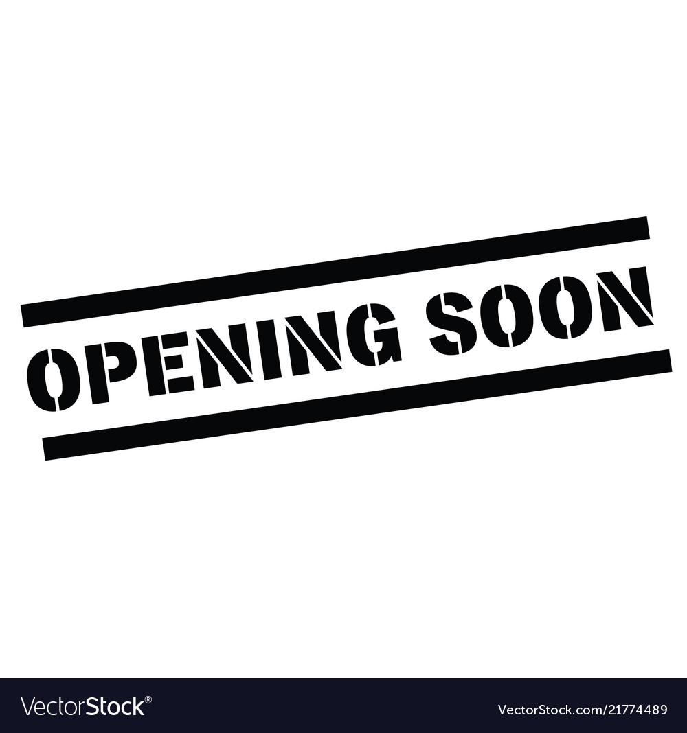 Opening soon rubber stamp vector image on VectorStock