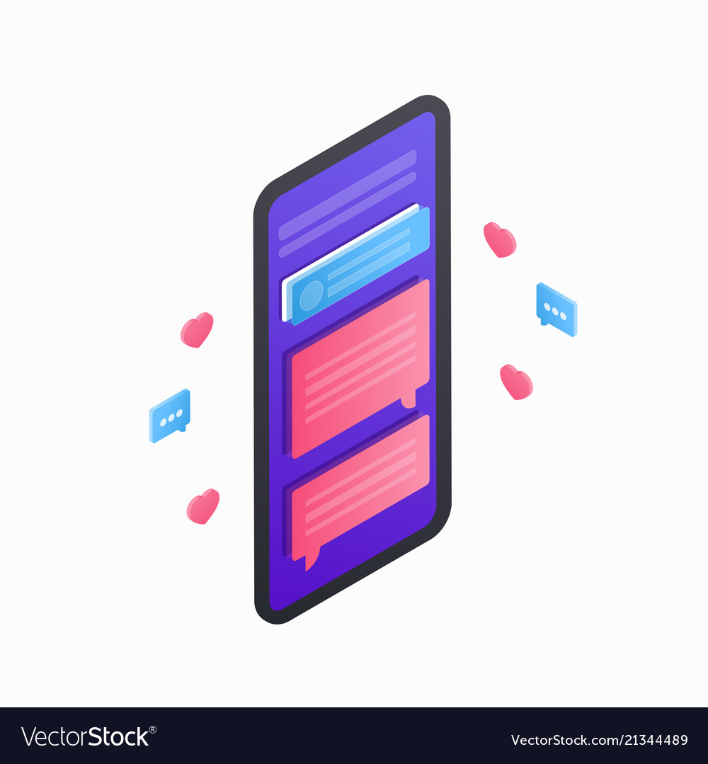 Smartphone isometric icon 3d flat mobile device