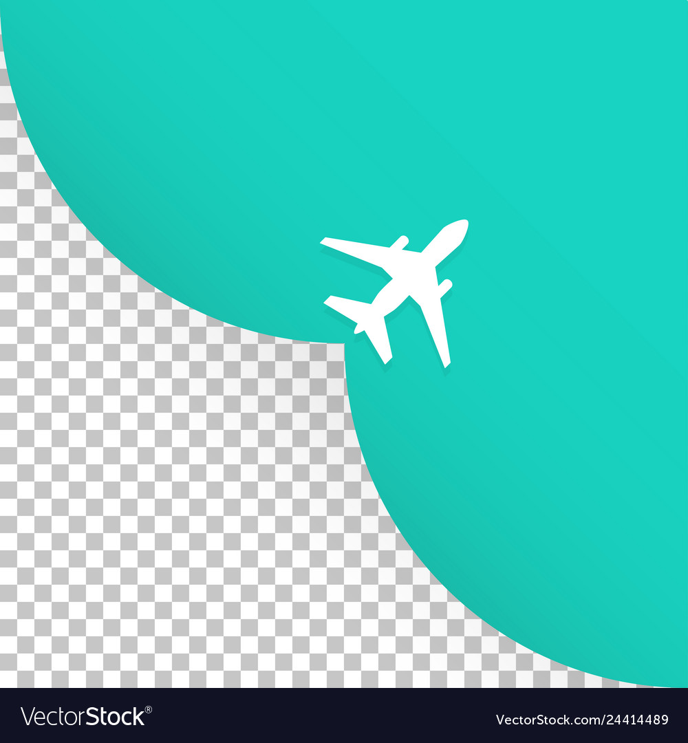 The plane takes off an empty place for advertising