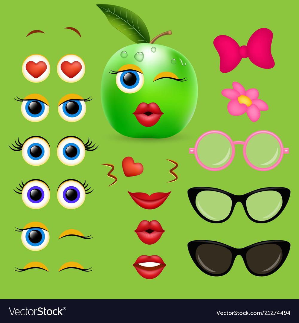 Apple girl emoji creator design collection