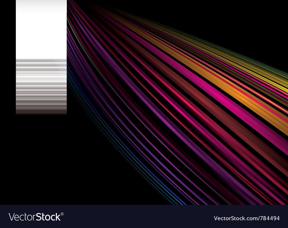 Bright rainbow background vector image