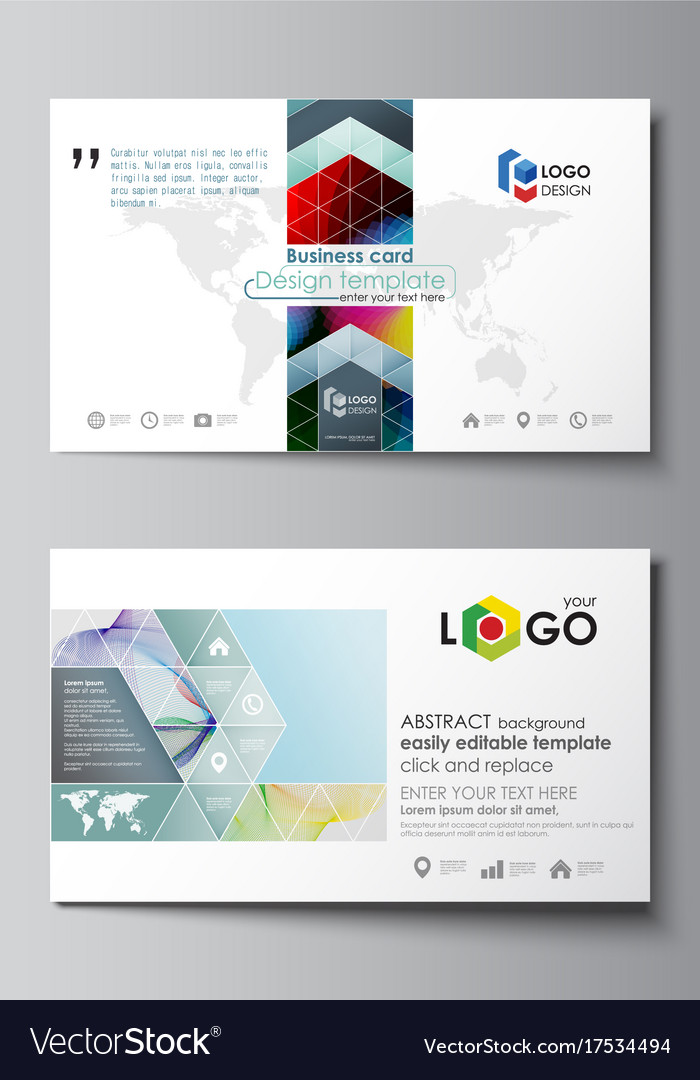 Business card templates easy editable layout vector image friedricerecipe Gallery