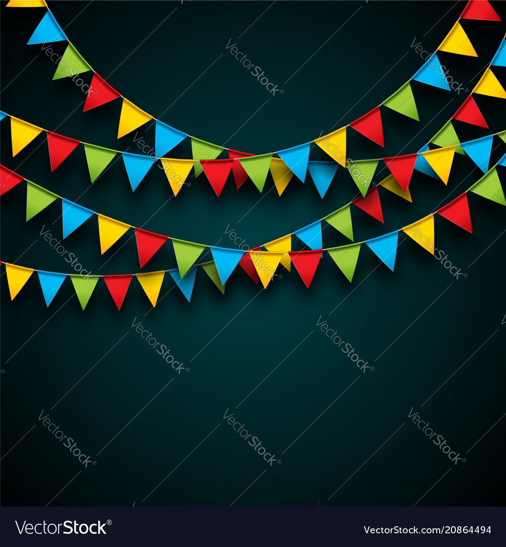 Celebrate with party flags and