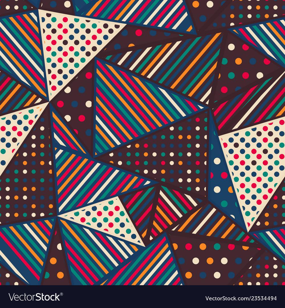Cloth triangle seamless pattern