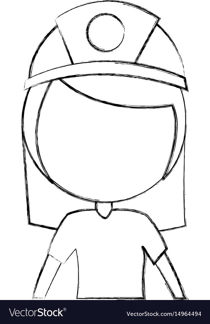 Female miner avatar character