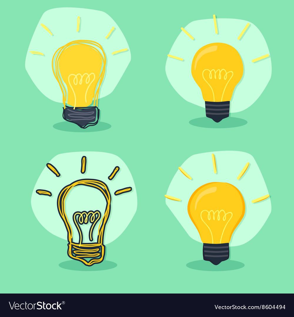 Idea Lamp Green Background