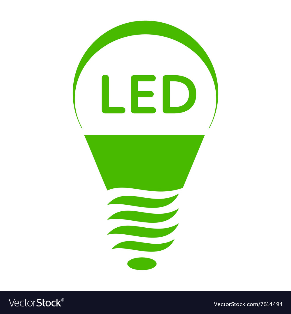 Led Bulb Light Icon Simple Style Royalty Free Vector Image
