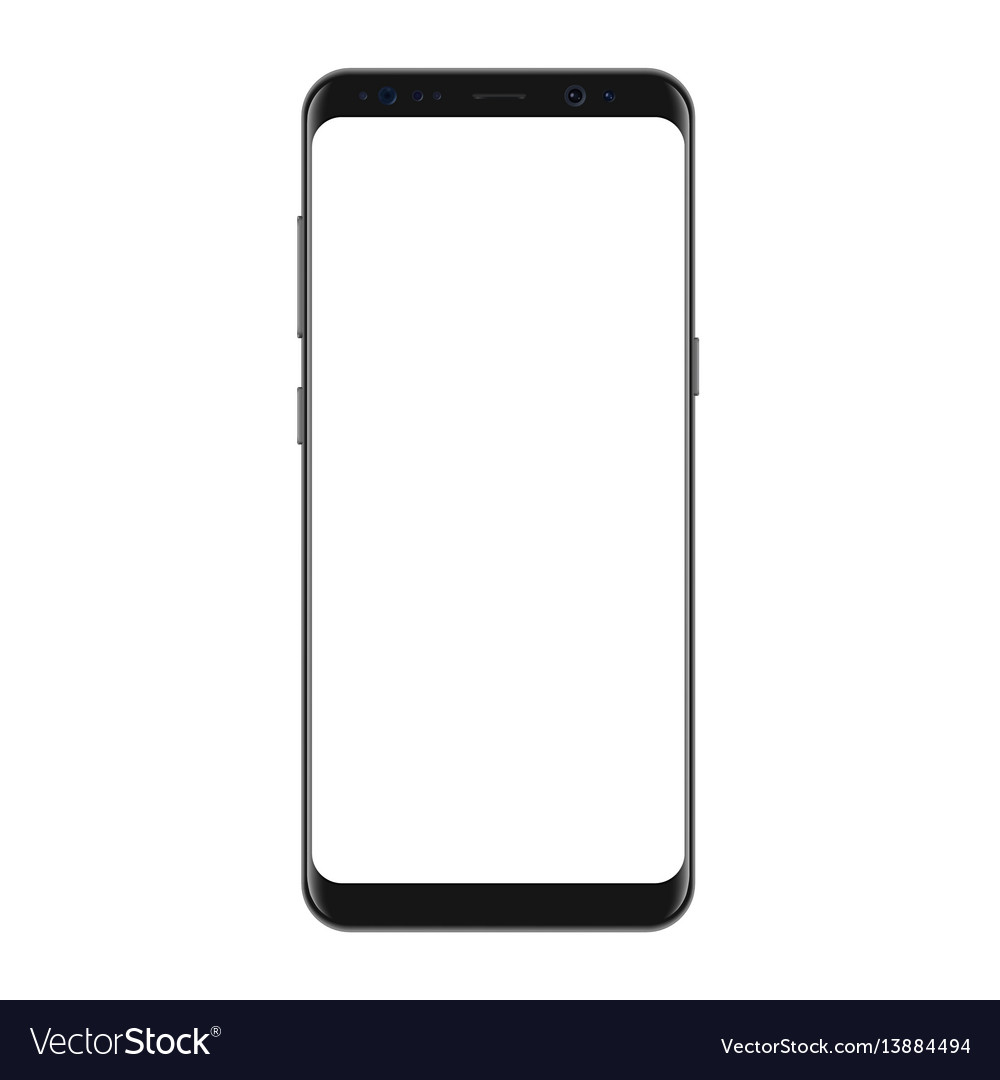 New version of modern smartphone with blank