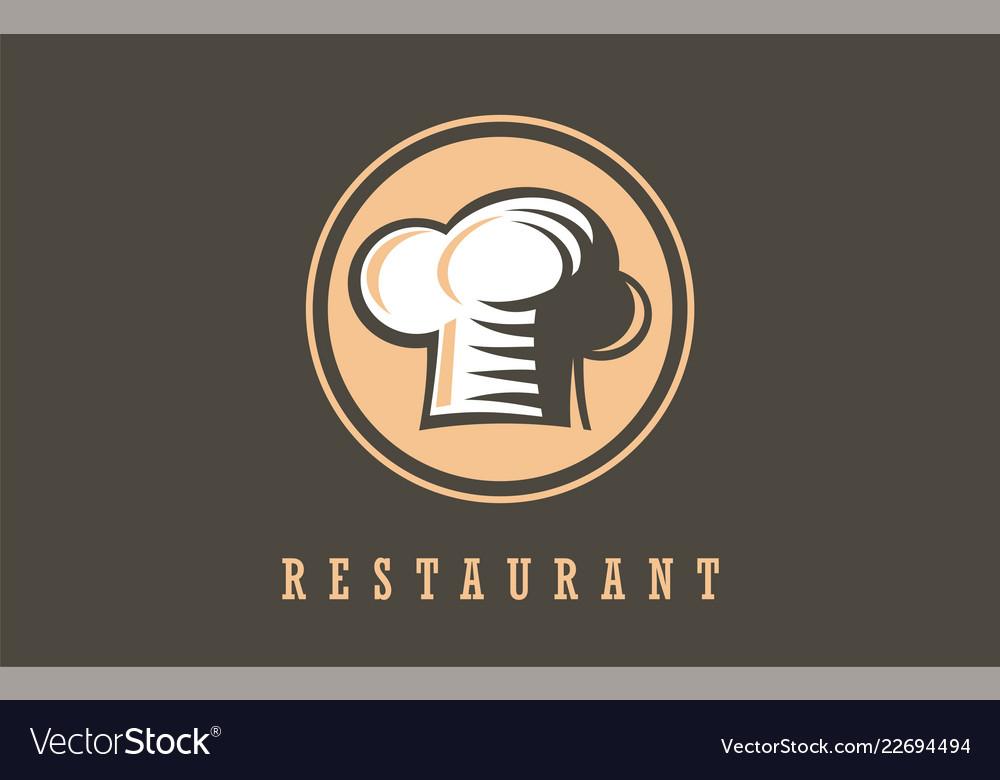 Restaurant chef symbolsign logo