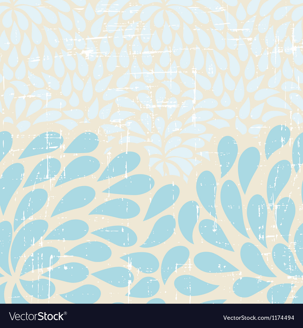 Seamless abstract retro drops pattern