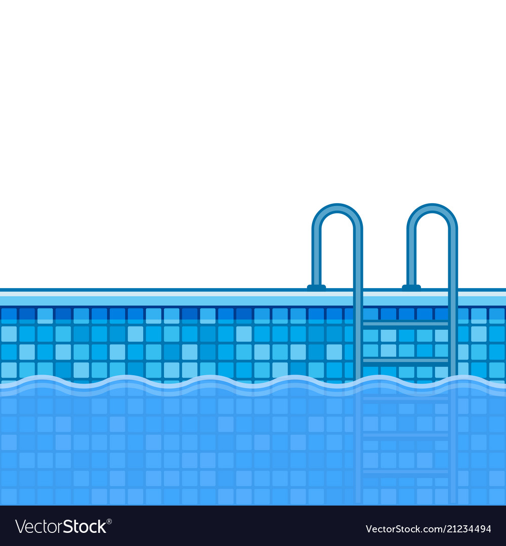 Swimming Pool Background With Stairs Vector Image