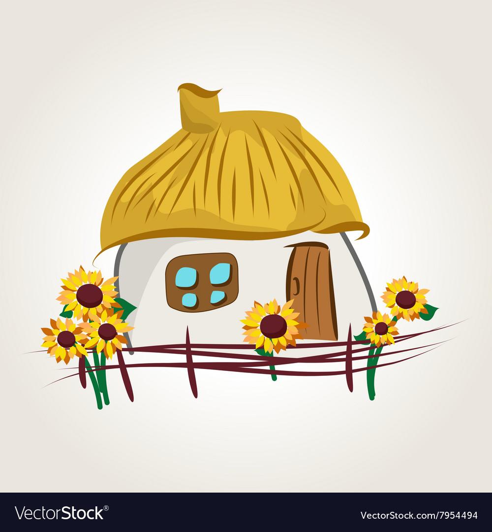 Ukrainian house cartoon vector image