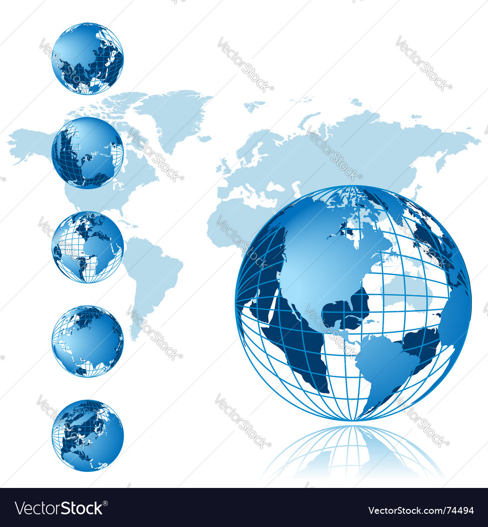 World map 3d globe series