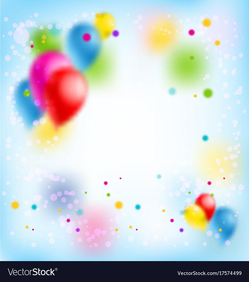 Blur Happy Birthday Banner Royalty Free Vector Image