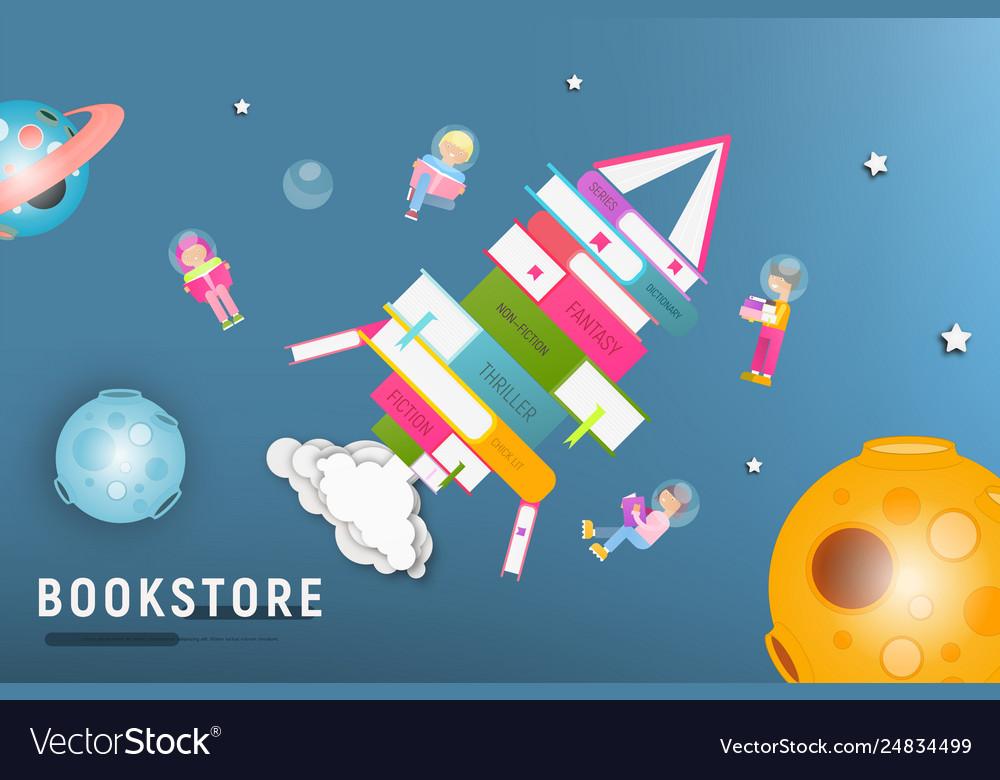 Bookstore or book festival poster design