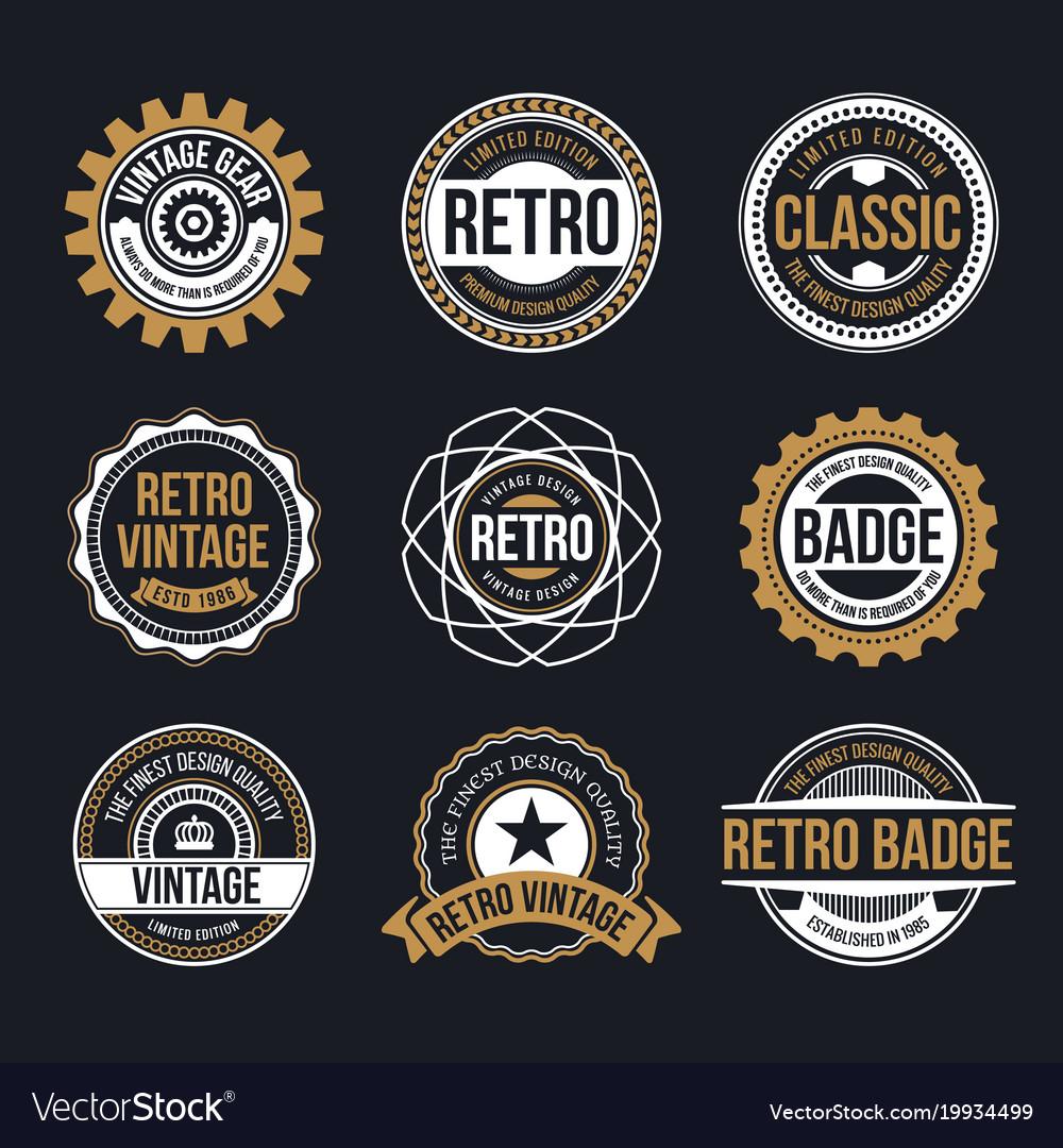 Circle vintage and retro badge design