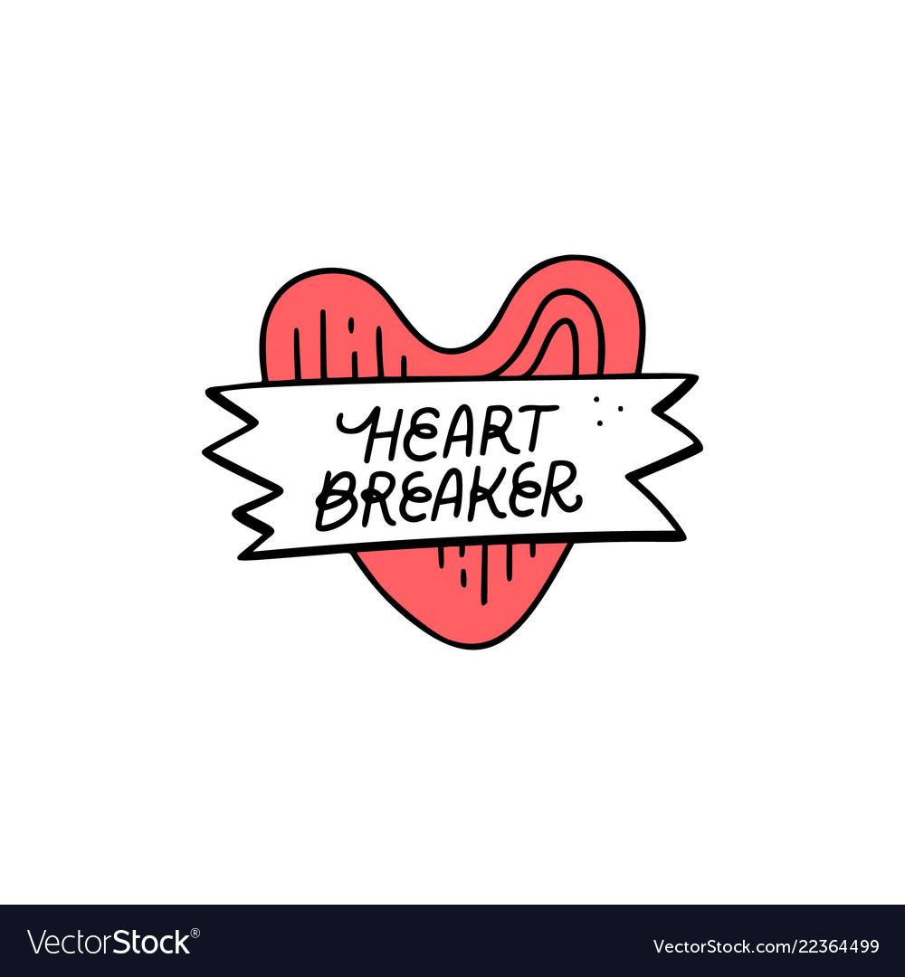 Heart breaker sticker