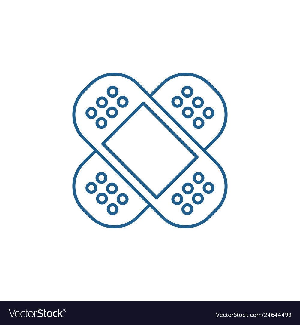 Patch line icon concept patch flat symbol