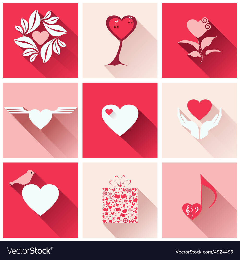 Set icons for romantic events
