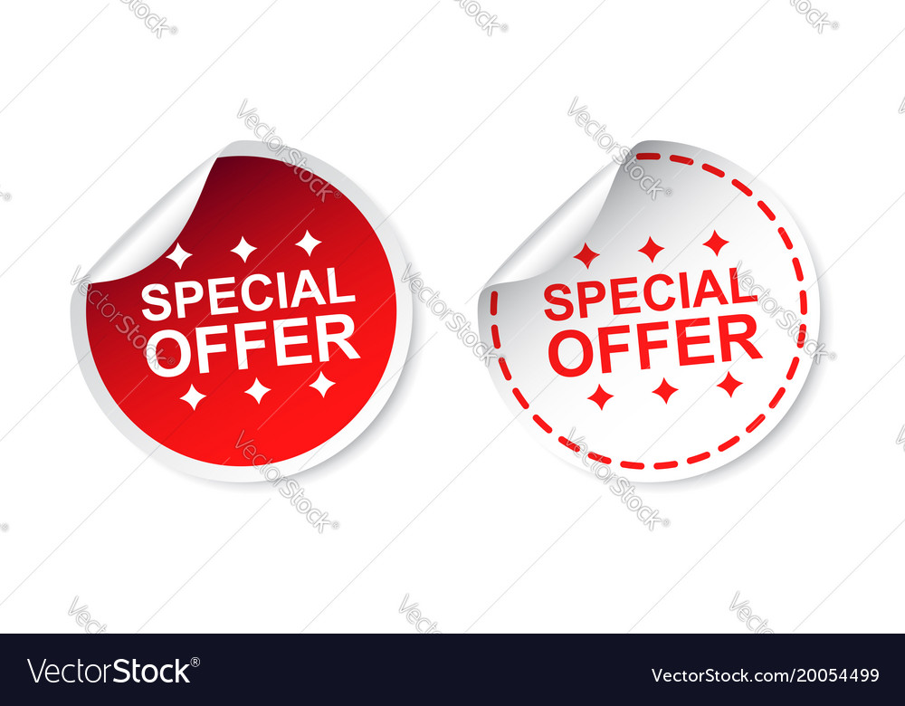 Special offer sticker business sale red tag label vector image