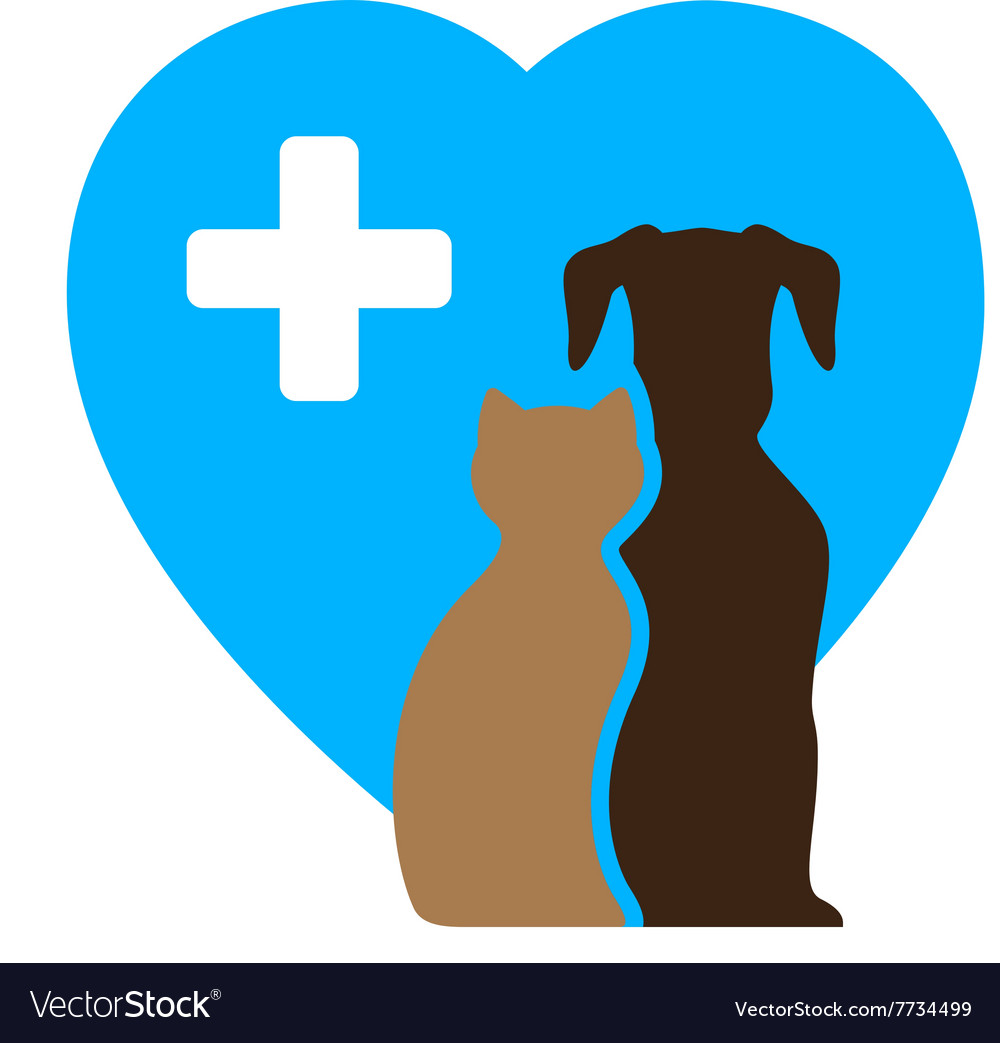 Veterinary icon and pet symbol
