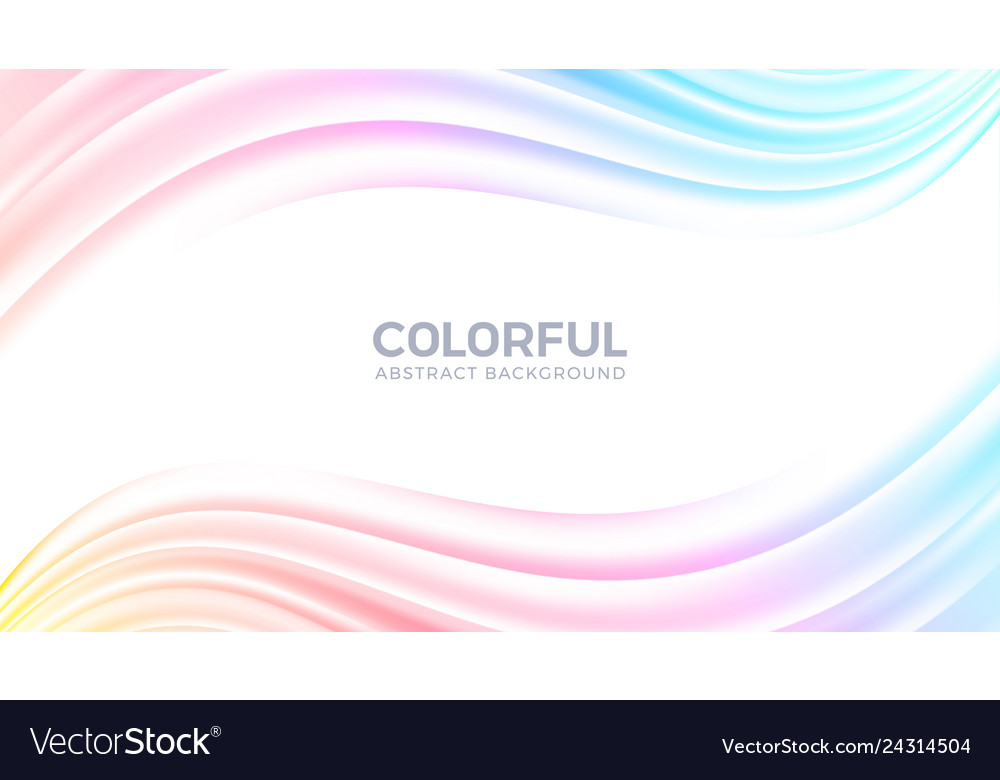 Abstract flow wave colorful background