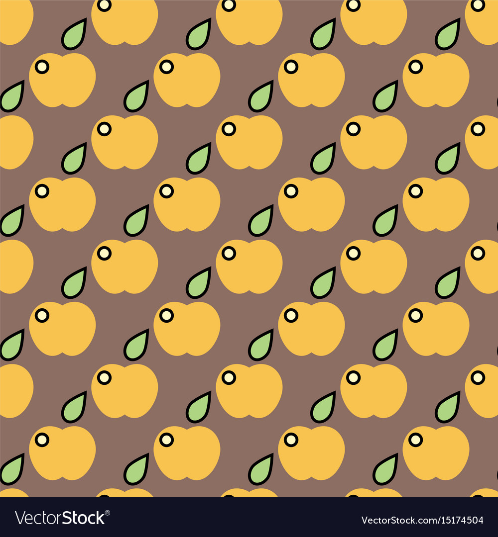 Apple background textile green