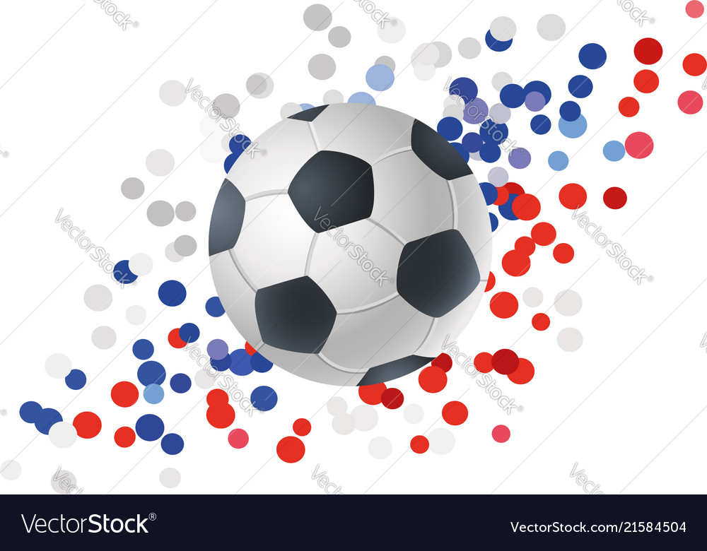 Ball for football on abstract background
