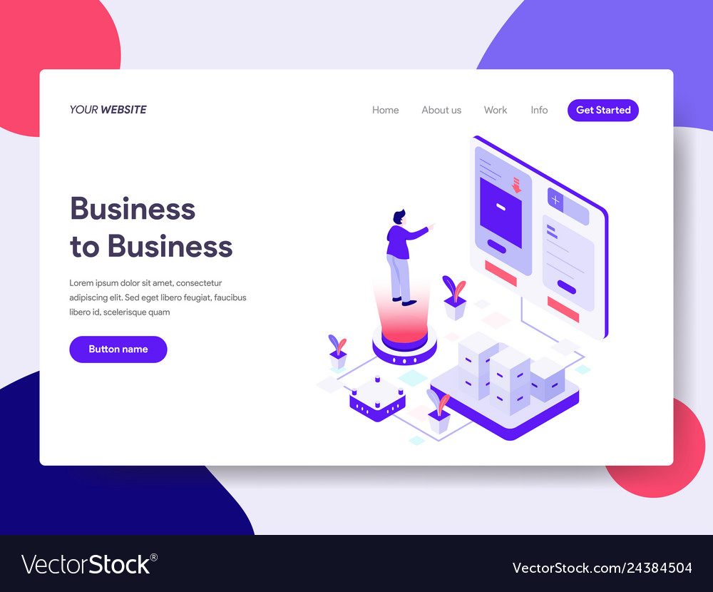 Landing page template of business to business