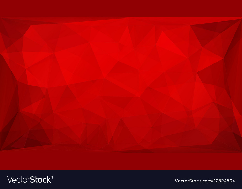 Red polygon background