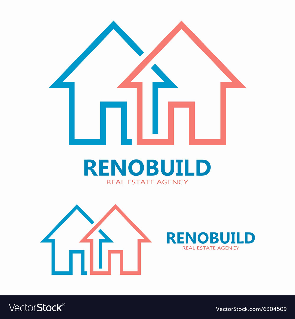 House line logo design element