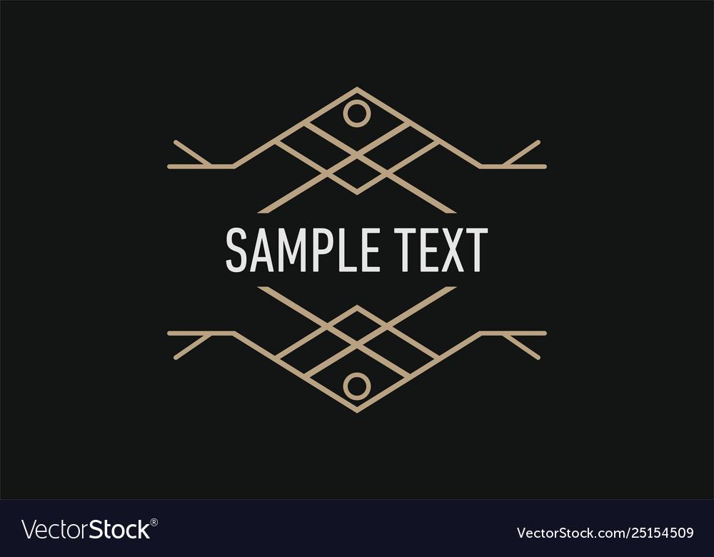 Line art decoration geometric frames logo