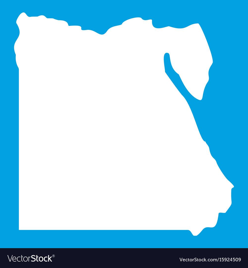 Map of egypt icon white