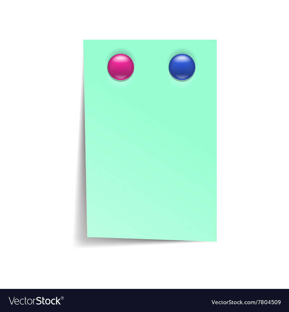 Note paper with magnets icon realistic style